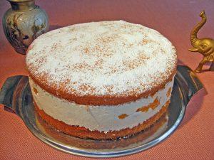 charlotte`s cream-cheesecake with tangarines - Kae3sesahnetorte